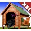 Psí bouda ze dřeva se střešním otevíráním