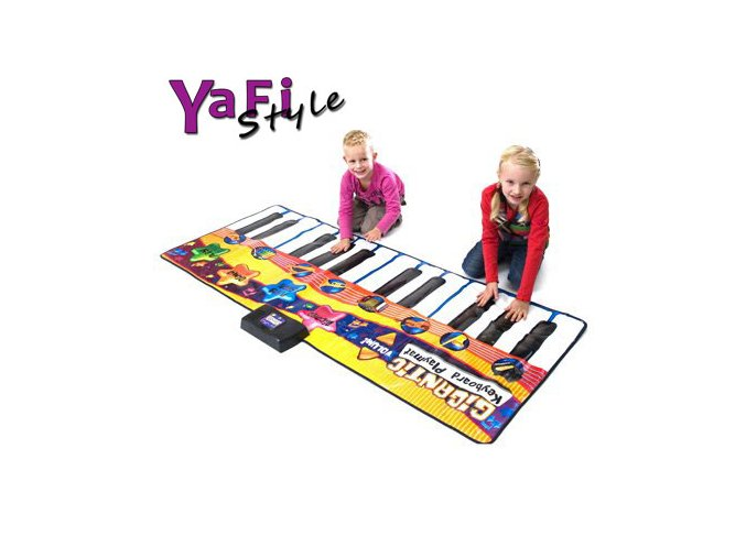 Hrací podložka koberec - gigantické piáno klavír