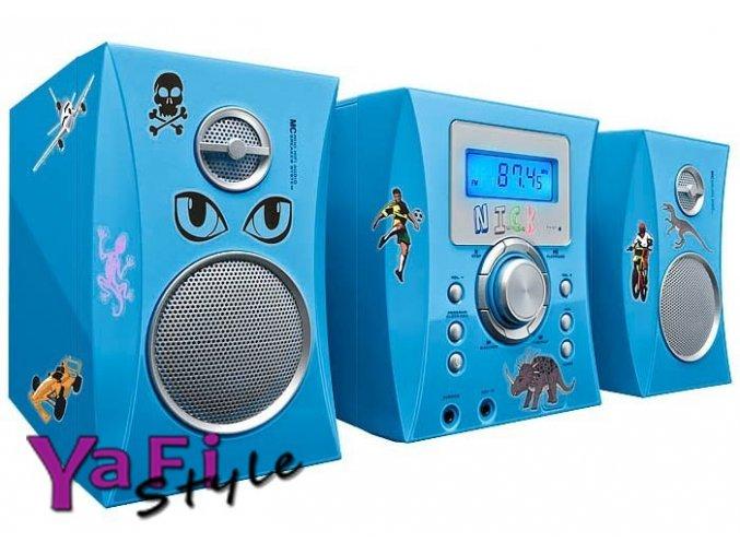 Dětská stereo souprava, cd, radio, hifi +samolepky