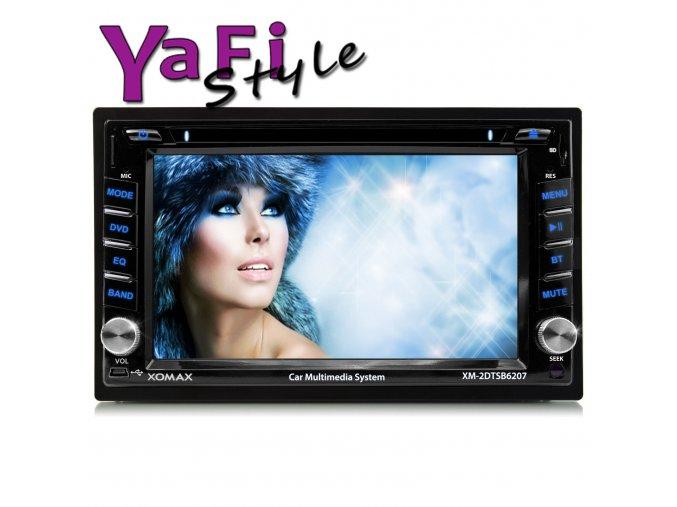2DIN dotykový display DVD CD Autoradio bluetooth
