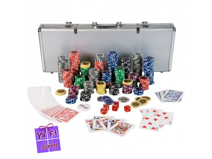 Poker set, pokerový kufr, 500 dílná sada