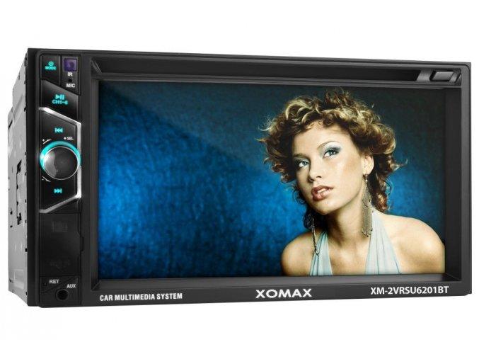 2DIN Autorádio, dotykový display, bluetooth, SD karta