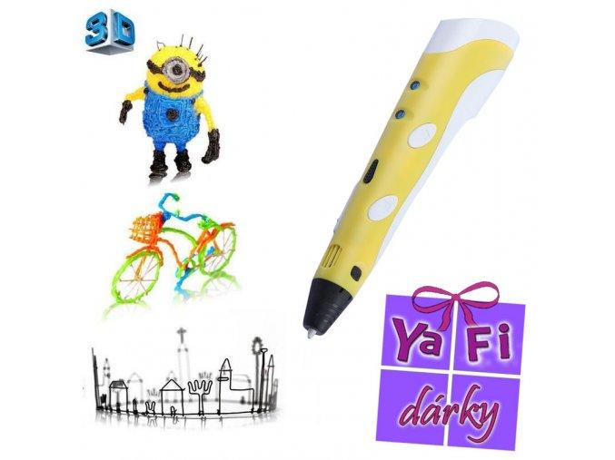 3D PEN žluté pero- tiskárna pro ruční 3D kreslení
