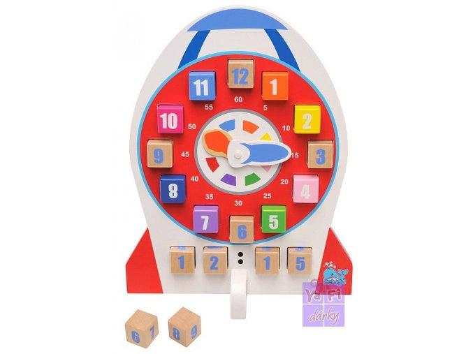 Dřevěné dětské hodiny, naučné hodiny pro děti
