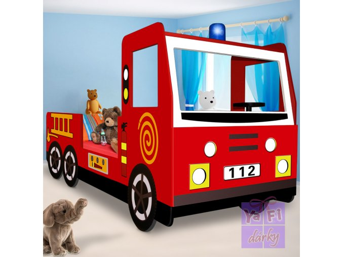 Dětské hasičské auto, postel do dětského pokojíčku