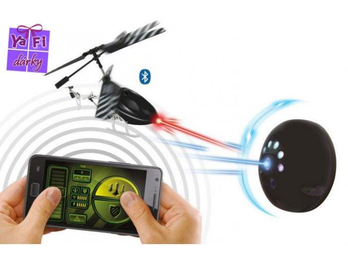 Bluetooth helikoptéra BeeWi stingbee s terčem, podpora IOS a Android