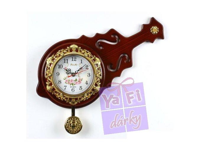 Moderní krásné kyvadlové hodiny - housle