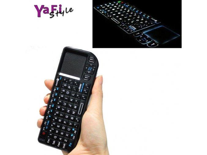 Mini bezdrátová klávesnice a myš, touchpad, podsvícená, 2,4GHz
