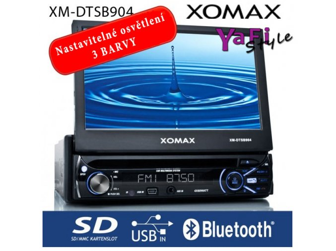 "18cm/7""Touchscreen DVD CD Autorádio bluetooth"