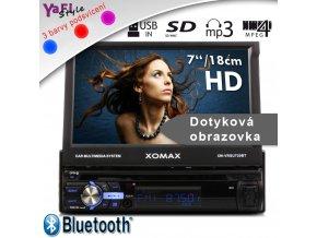 """18cm/7""""Touchscreen vysouvací dotyková obrazovka USB SD Autorádio bluetooth DIN1"""