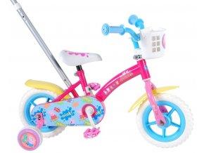 Dětské jízdní kolo 10 tříkolka pro děti s vodící tyčí a brzdou