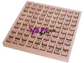 Počítací dřevěná tabulka - malá násobilka