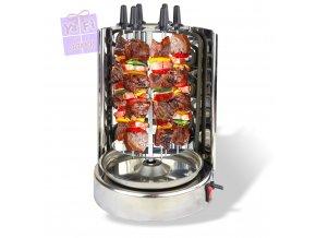 Domácí gril na kebab, gyros, špízy a celé kuře
