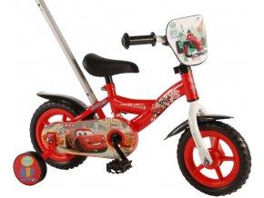 Dětské jízdní kolo 10 disney CARS s vodící tyčí a brzdou