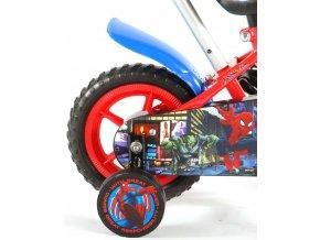 Dětské jízdní kolo 10 SPIDERMAN s vodící tyčí a brzdou