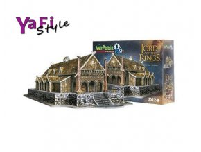 3d PUZZLE, Lord of the Rings, Pán prstenů EDORAS, 742 dílů