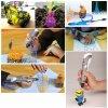 3D PEN modré pero- tiskárna pro ruční 3D kreslení