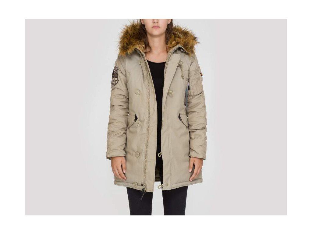 Alpha Industries Explorer Wmn dámska zimná bunda khaki