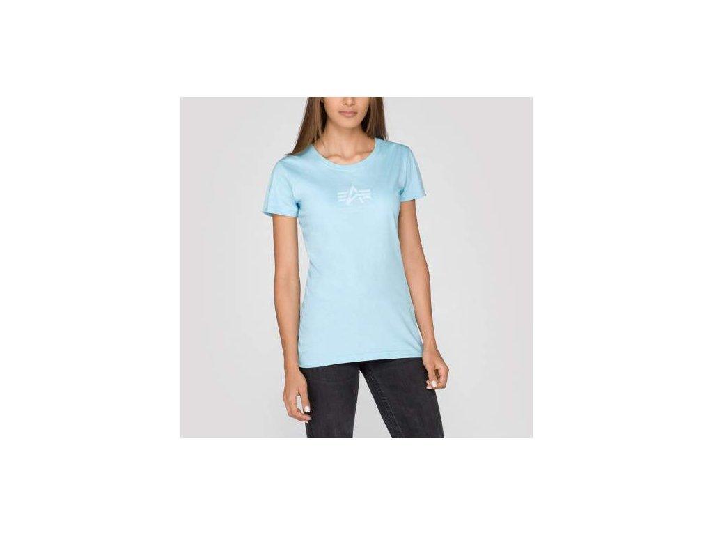 Alpha Industries Basic T Wmn air blue tričko dámske