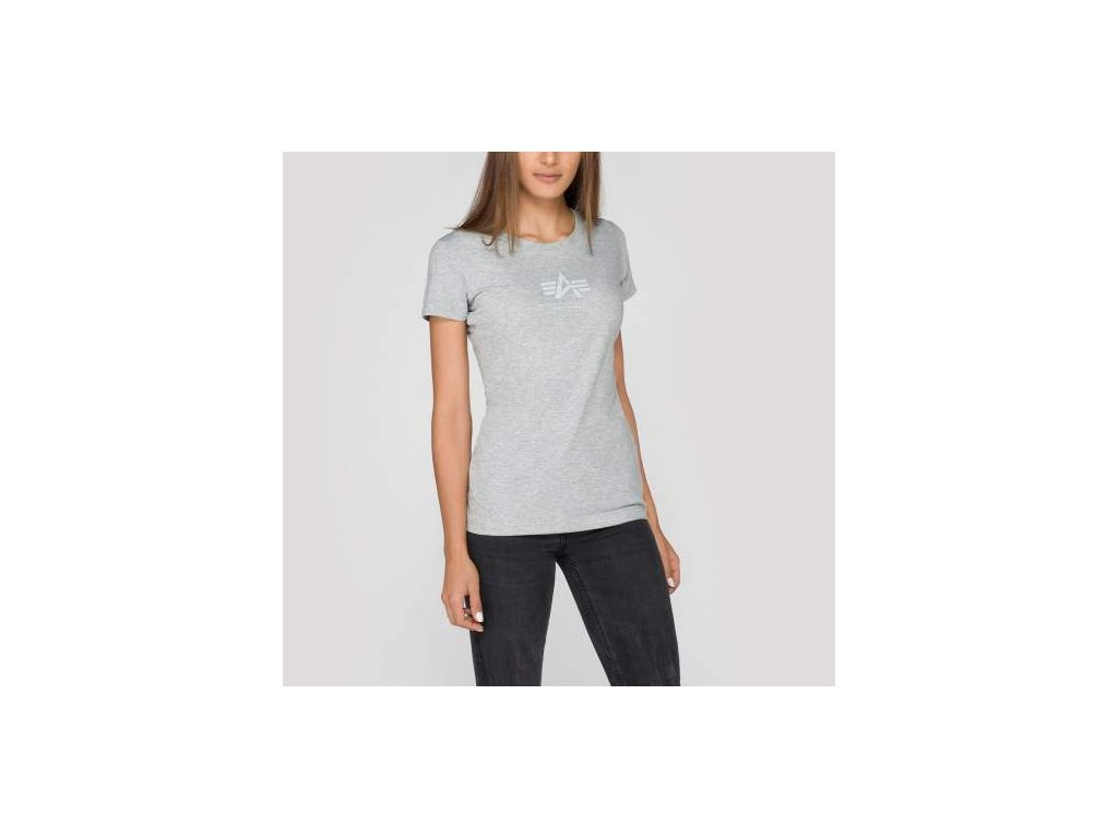 Alpha Industries Basic T Wmn grey heather tričko dámske