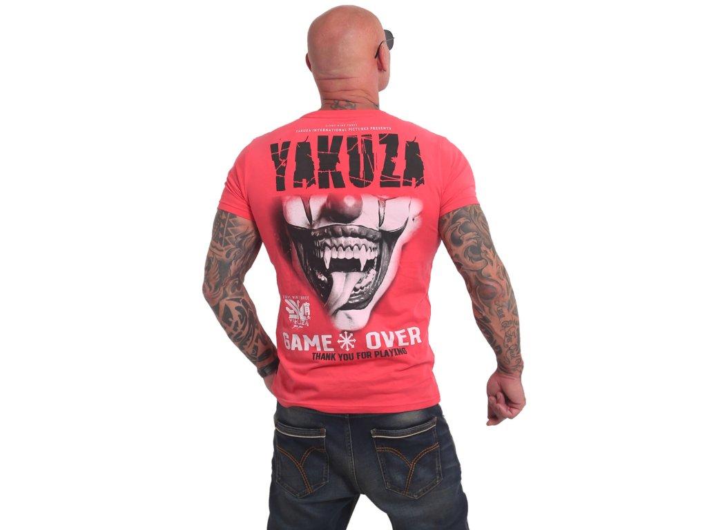 Yakuza GAME OVER tričko pánske TSB 16088 geranium