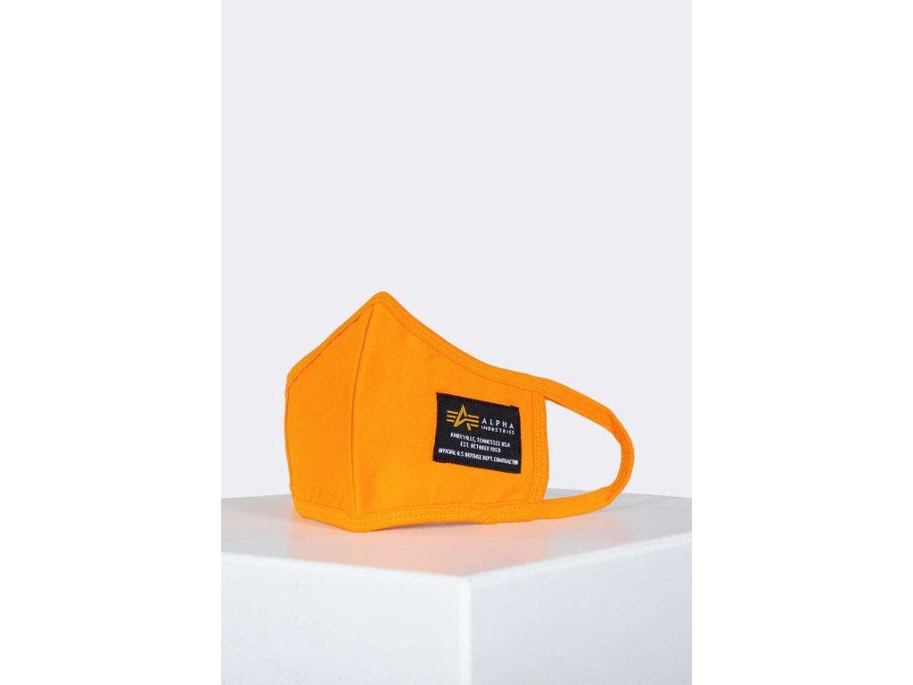 Alpha Industries rúško na tvár flame orange