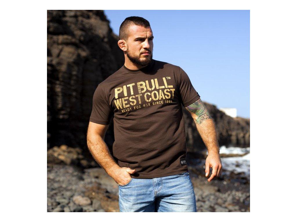 PitBull West Coast WAR DOG tričko pánske Brown