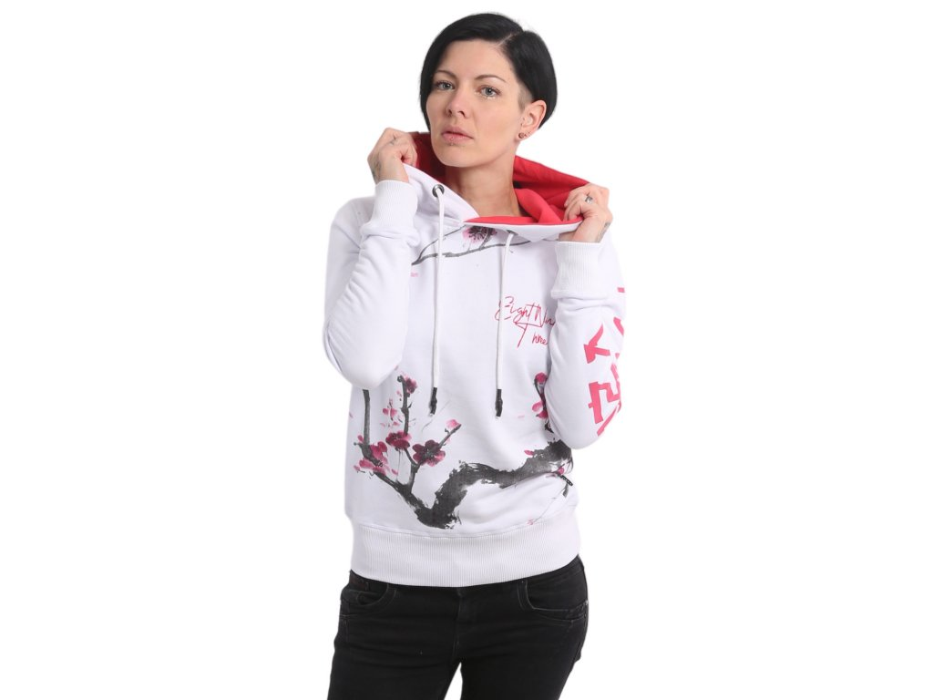 Yakuza CHERRY BLOSSOM dámska mikina GHOB 17102 white
