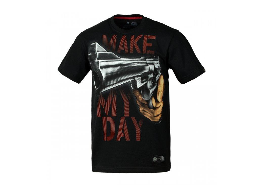 PitBull West Coast MAKE MY DAY 17 tričko pánske Black