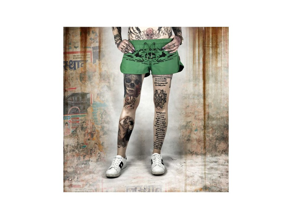 Yakuza dámske šortky ONE LOVE GSSB 10134 summer green