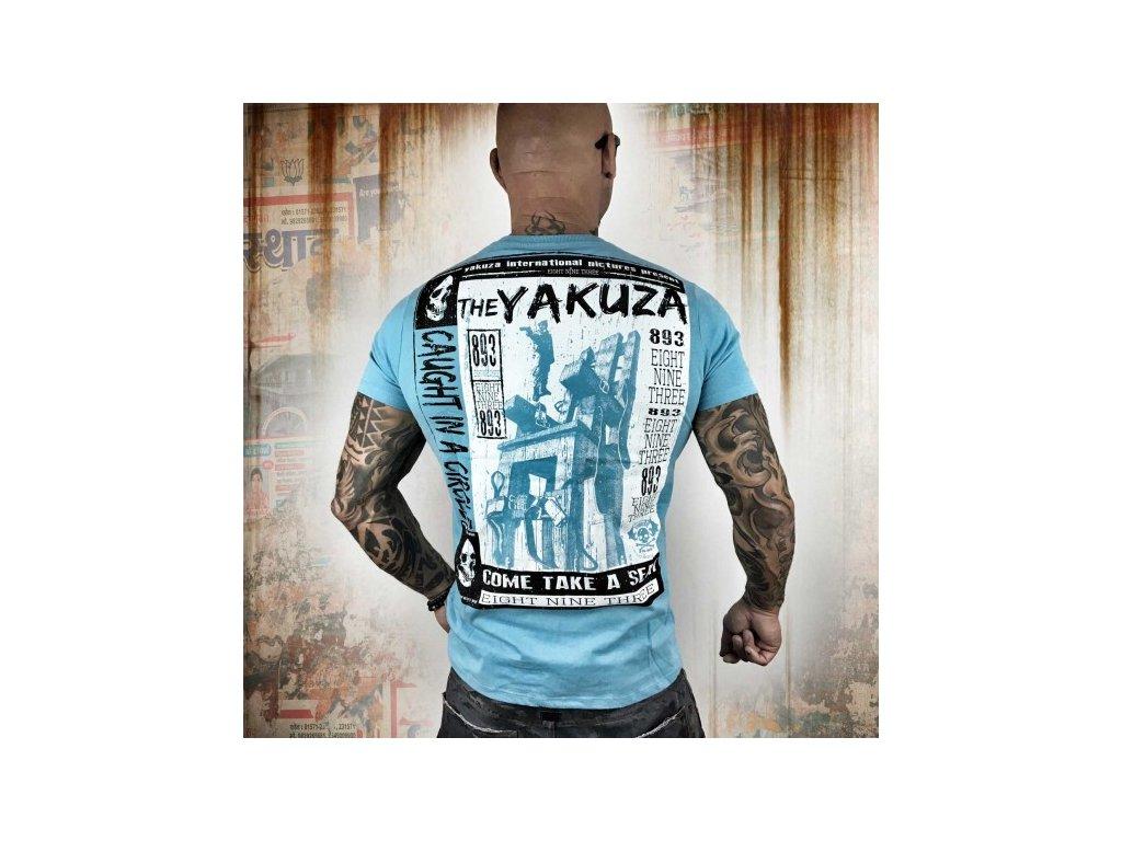Yakuza tričko pánske Take A Seat TSB 10010 maui blue
