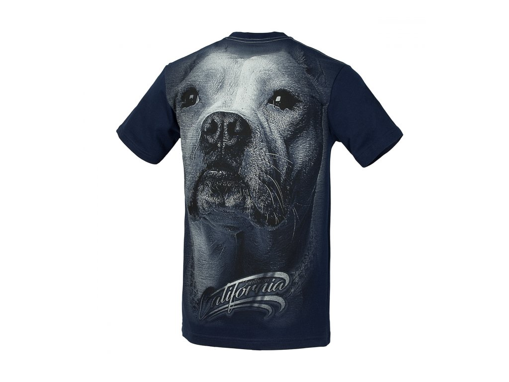 PitBull West Coast CALIFORNIA DOG 17 tričko pánske Navy