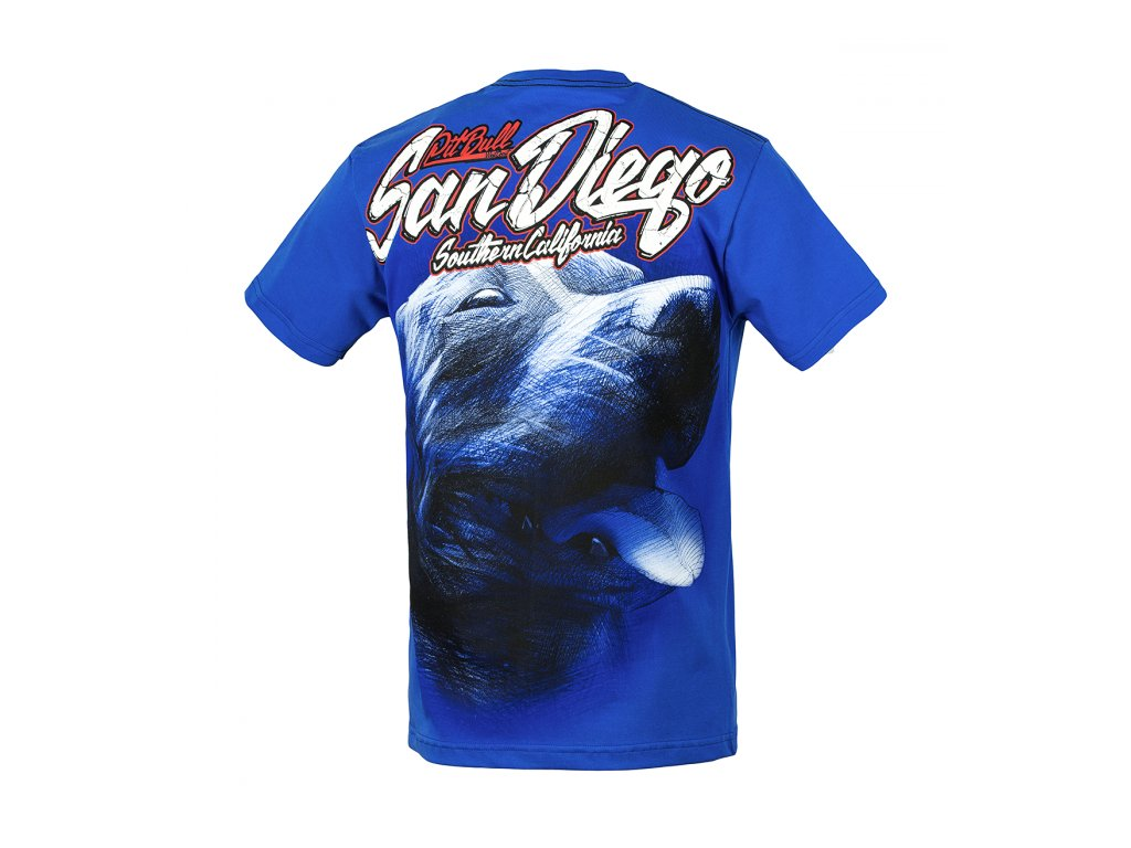 PitBull West Coast CALIFORNIA DOG 17 tričko pánske Royal Blue