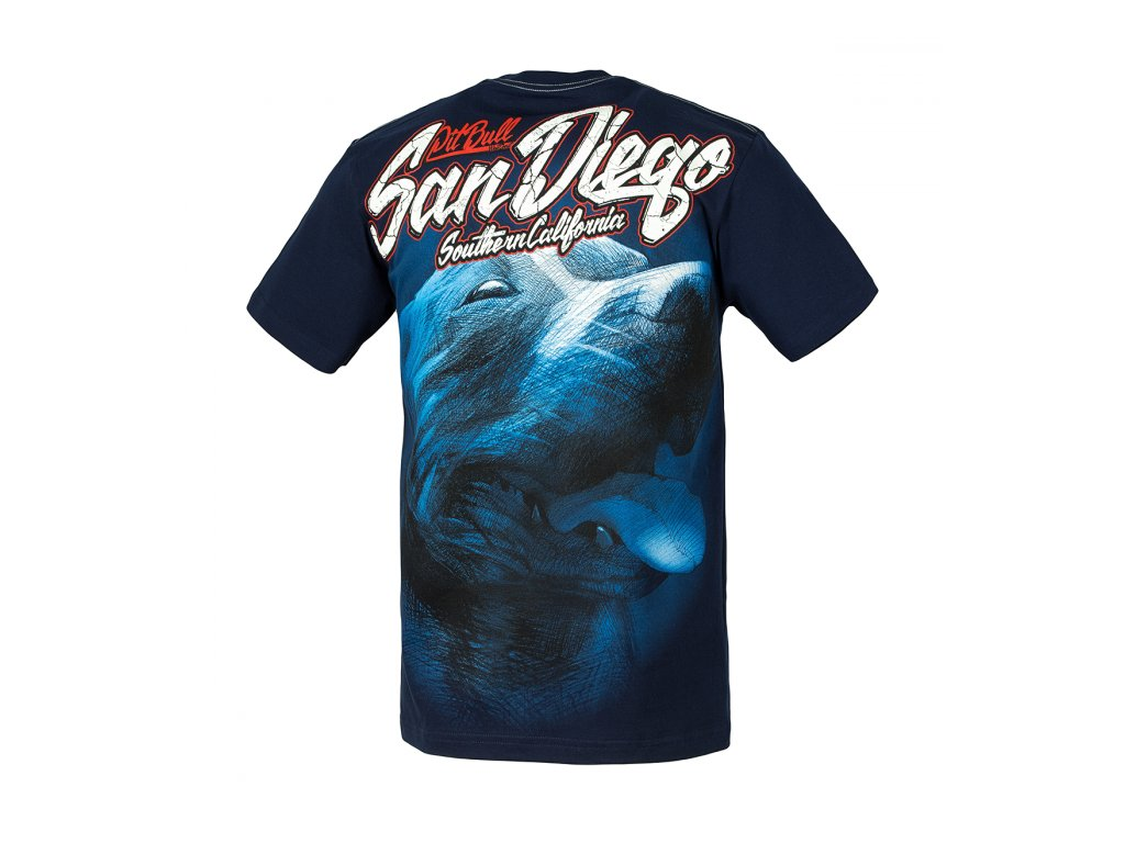 PitBull West Coast SAN DIEGO 17 tričko pánske Navy