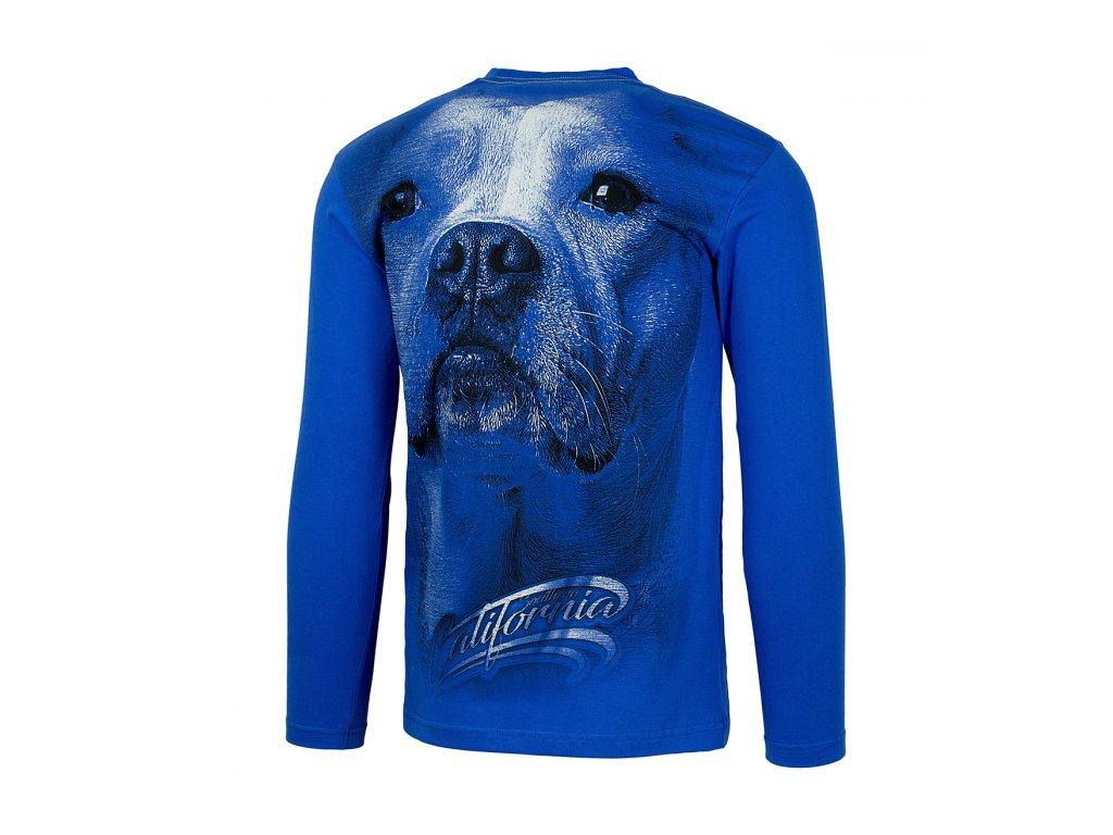 PitBull West Coast CALIFORNIA DOG 17 tričko pánske s dlhým rukávom Royal Blue
