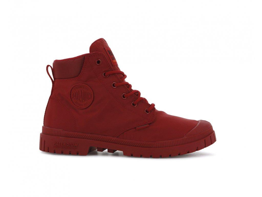 Palladium módne topánky PAMPA SP20 CUFF WP+ RED SALSA