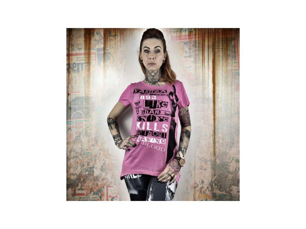 Yakuza dámske tričko SHARP KNIFE GSB 10120 Aurora Pink