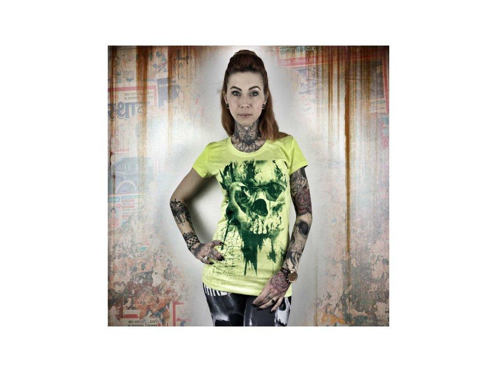 Yakuza DEAD SWAN dámske tričko GSB 10114 Sunny Lime