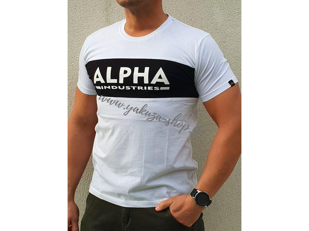 Alpha Industries Inlay T white black tričko pánske