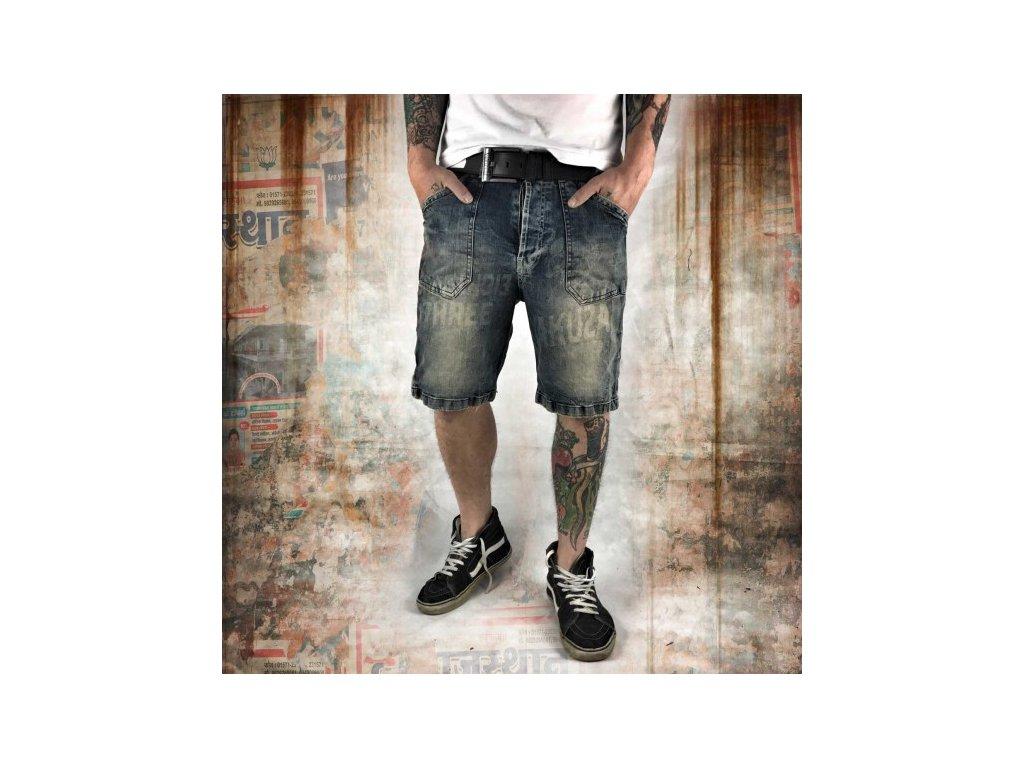 Yakuza jeansové šortky pánske CAUGHT IN A CIRCLE JKB 10072 bronze vintage