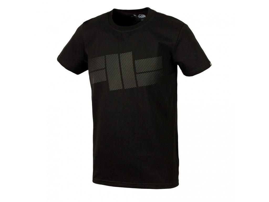 PitBull West Coast STRIPES LYCRA tričko pánske Black