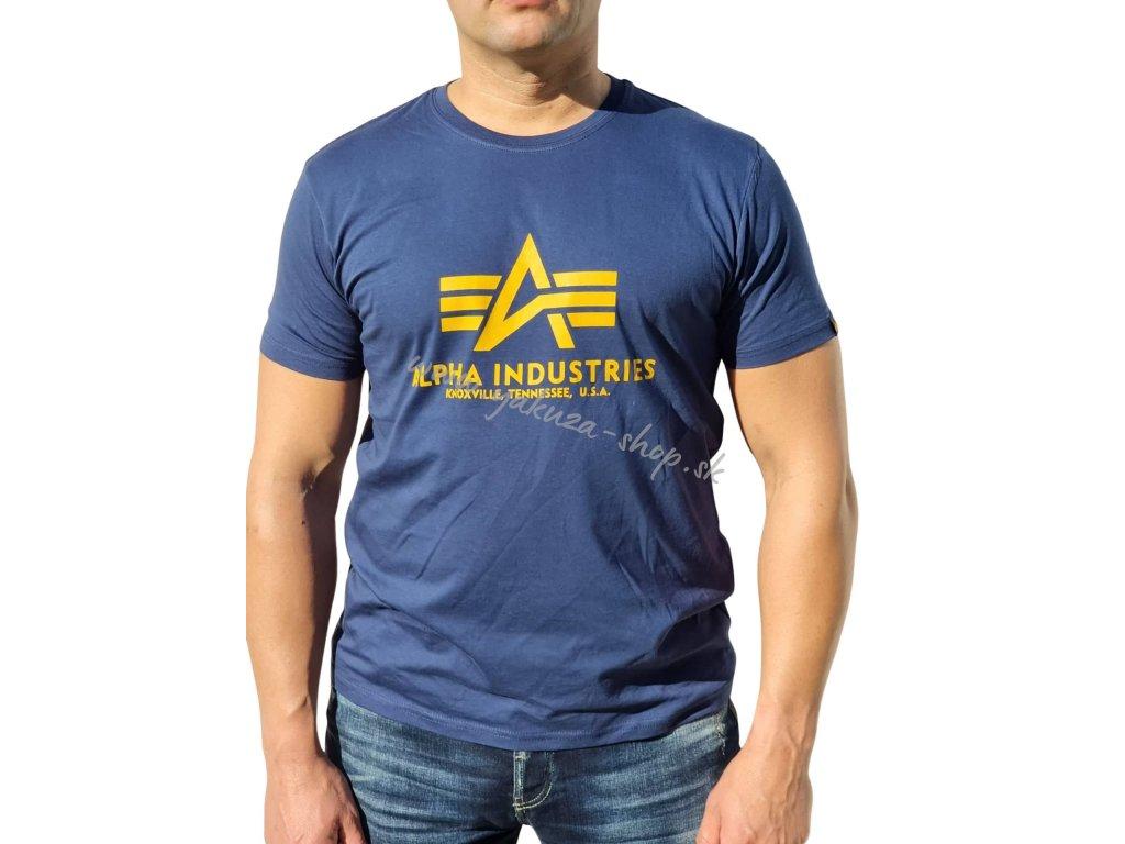 Alpha Industries Basic T Shirt New Navy tričko pánske