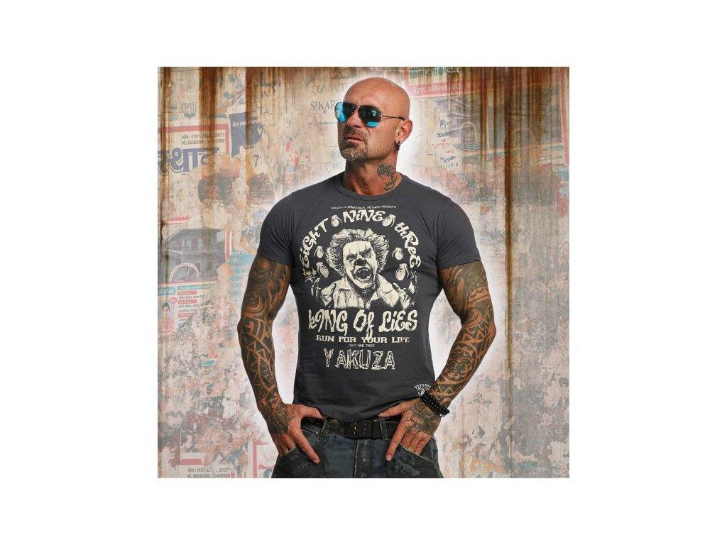 Yakuza tričko pánske King Of Lies TSB 10002 Dark Shadow