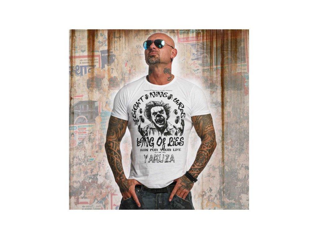 Yakuza tričko pánske King Of Lies TSB 10002 White
