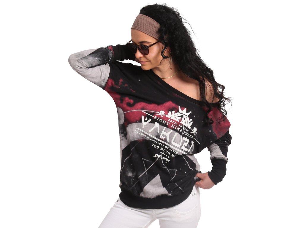Yakuza SPACY dámske tričko s dlhým rukávom GLSB 17148 black