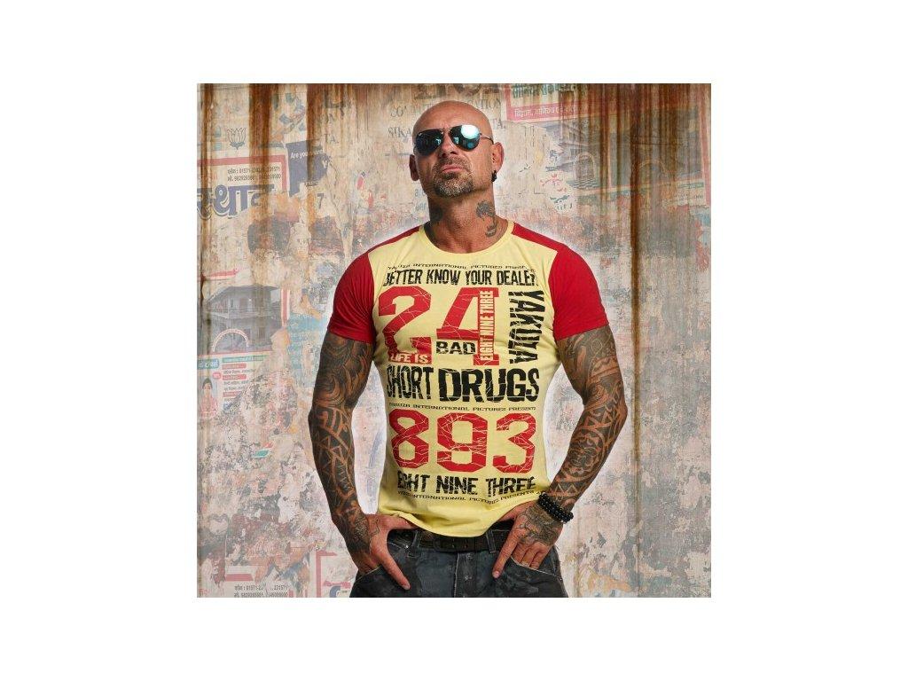 Yakuza tričko pánske KNOW YOUR DEALER 2 TSB 10013 Rafia