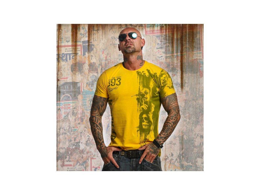Yakuza tričko pánske WAITING DEATH TSB 10020 Gold Fusion