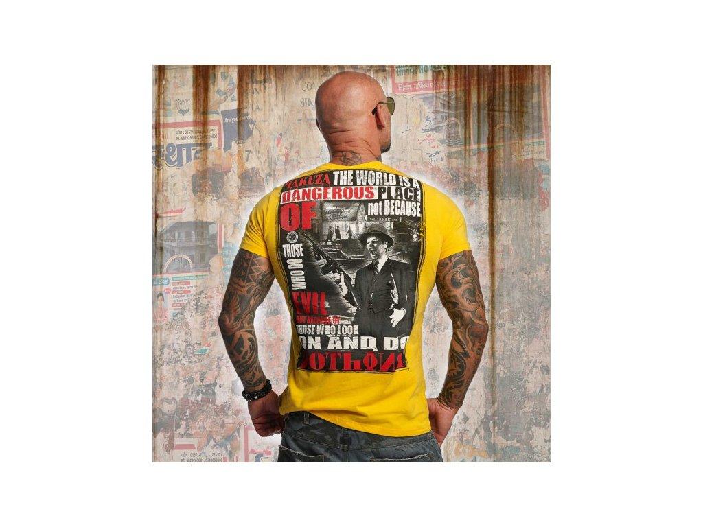 Yakuza tričko pánske DANGEROUS PLACE TSB 10015 Gold Fusion