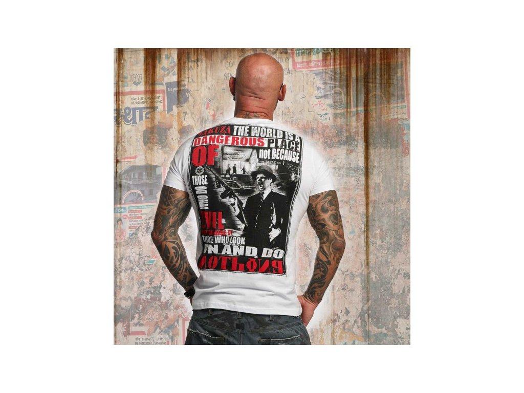 Yakuza tričko pánske DANGEROUS PLACE TSB 10015 White