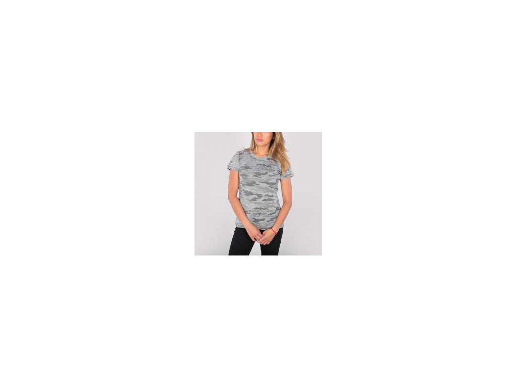 Alpha Industries Basic T Wmn tričko dámske grey camo